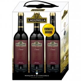 LOTE 77: 3 botellas D.O. Ca. Rioja Lagunilla tinto crianza 75 cl.