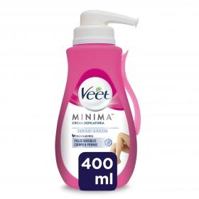 Depilatorio Crema con dosificador piel sensible Veet 400 ml.