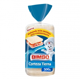 Pan de molde con corteza blanca Bimbo 450 g.