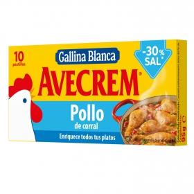 Caldo de pollo - 30% sal Gallina Blanca 10 pastilas