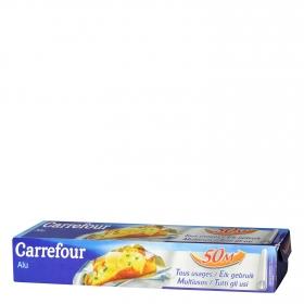 Papel de aluminio Carrefour 50 metros.