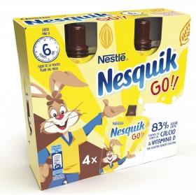 Batido de chocolate Nestlé - Nesquik pack de 4 bolsitas de 80 g.
