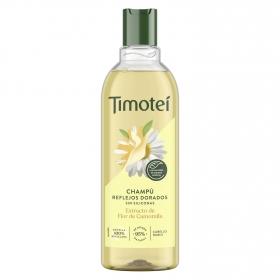 Champú Camomila Reflejos Dorados para cabello rubio/castaño claro Timotei 400 ml.