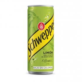 Refresco de limón Schweppes con gas lata 33 cl.