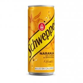 Refresco de naranja Schweppes con gas lata 33 cl.