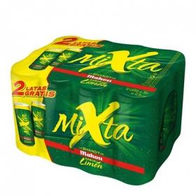 Cerveza Mahou Mixta Shandy con limón pack de 12 latas de 33 cl.