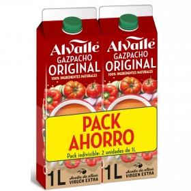 Gazpacho original Alvalle pack de 2 unidades de 1 l.