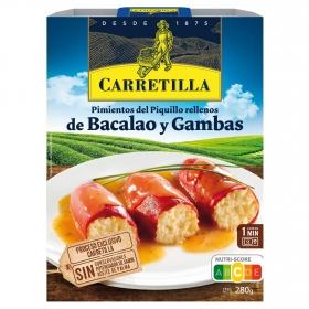 Pimientos de piquillo relleno de bacalao y gambas Carretilla 280 g.