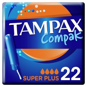 Tampones Compak superplus Tampax 22 ud.
