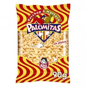 Palomitas sabor kétchup y mostaza Risi sin gluten 90 g.