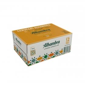 Cerveza Alhambra Lager especial pack de 12 latas de 33 cl.