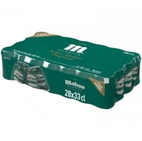 Cerveza Mahou Clásica pack de 28 latas de 33 cl.