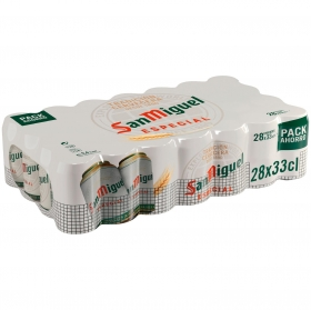 Cerveza San Miguel especial Lager pack de 28 latas de 33 cl.
