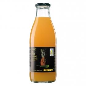 Zumo de piña y aloe ecológico Delizum botella 1 l.