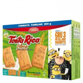 Galletas con cereales, vitaminas y calcio Fibra Tosta Rica Cuétara 800 g.