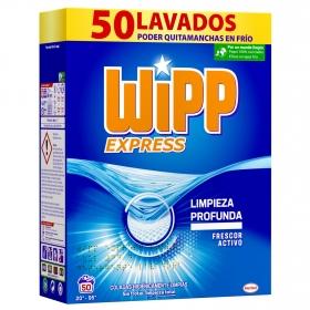 Detergente con quitamanchas en polvo Wipp Express 50 lavados.