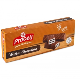 Galletas de chocolate Waffers sin gluten 130 g.