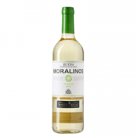 Vino D.O. Rueda blanco moralinos verdejo Pagos del Rey 75 cl.