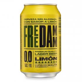 Cerveza Free Damm Lager 0,0 sin alcohol con limón lata 33 cl.