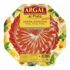 Jamón curado al plato finas lonchas Argal 80 g.