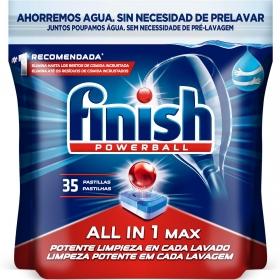 Lavavajillas máquina Todo en 1 en pastillas Finish 35 ud.