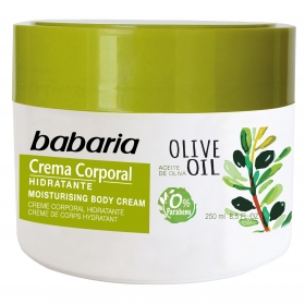 Crema corporal nutritiva Oliva Babaria 250 ml.