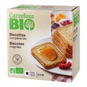 Biscottes integrales ecológicos Carrefour Bio 300 g.