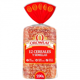 Pan de molde con grano entero 12 cereales Bimbo-Oreweat 680 g.