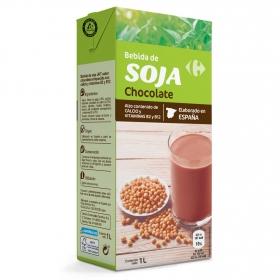 Bebida de soja sabor chocolate Carrefour brik 1 l.
