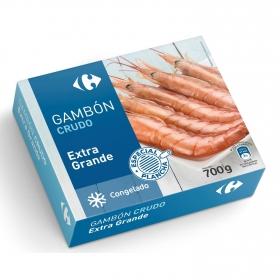 Gambón extra grande crudo 14/21 piezas Carrefour 700 g.