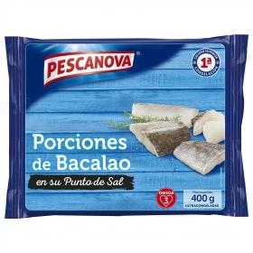 Porciones de bacalao Pescanova 400 g.