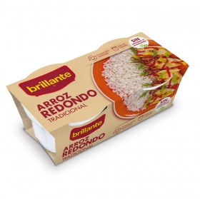 Arroz redondo para microondas Brillante pack de 2 ud. de 125 g.