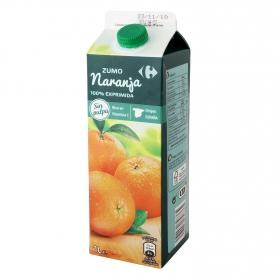 Zumo de naranja Carrefour brik 1 l.