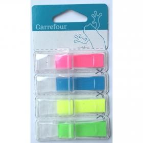 Marcadores con Dispensador Index Carrefour 4x35 uds