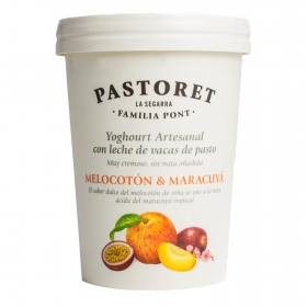 Yogur de melocotón y maracuyá Pastoret 500 g.