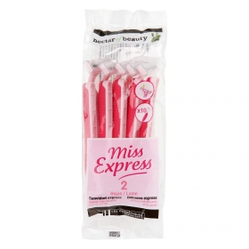 Maquinilla desechable mujer 2 hojas Miss Express Les Cosmétiques Néctar of Beauty 10 ud.