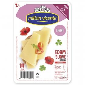 Queso edam ligero en lonchas Millán Vicente 150 g.