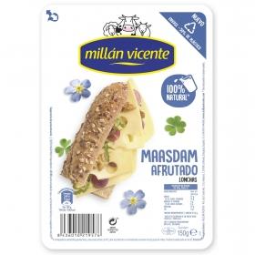 Queso maasdam en lonchas Millán Vicente 150 g.