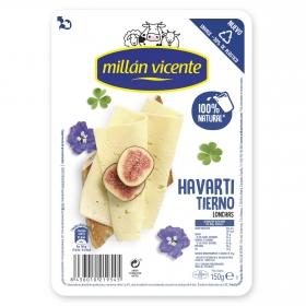 Queso havarti Loncha Millán Vicente 150 g.