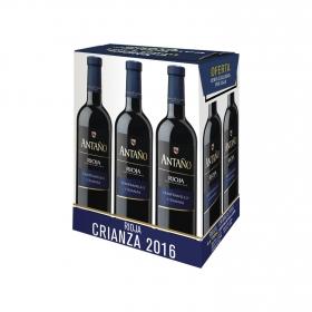 Vino D.O Rioja Antaño tinto crianza 6 botellas de 75 cl.