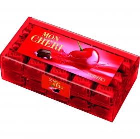 Bombones de chocolate negro rellenos de licor de cereza Mon Chéri 30 ud.