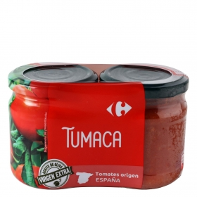 Tumaca natural con aceite de oliva Carrefour 370 g.