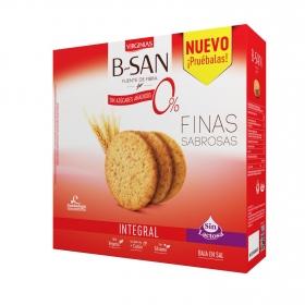 Galletas integrales sin azúcares aladidos B San Virginias 480 g.