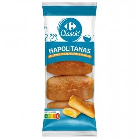 Napolitana relleno de crema Carrefour 320 g.