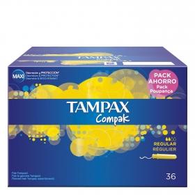Tampones Compak regular Tampax 36 ud.