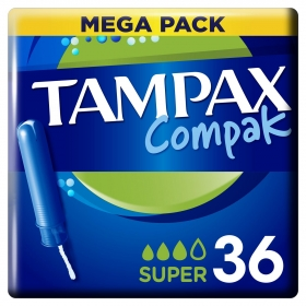 Tampones Compak super Tampax 36 ud.