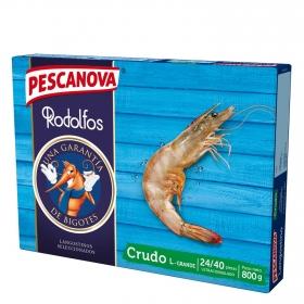 Langostino extra crudo Pescanova 800 g.