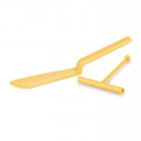 Espatula Crepes de Plástico TESCOMA Delicia  32cm - Amarillo