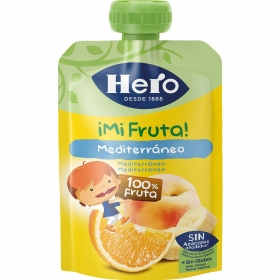 Preparado de frutas mediterráneo Hero Nanos sin gluten bolsita de 100 g.