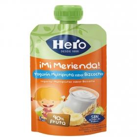 Yogur con bizcocho Hero Nanos Mi Merienda bolsita de 100 g.